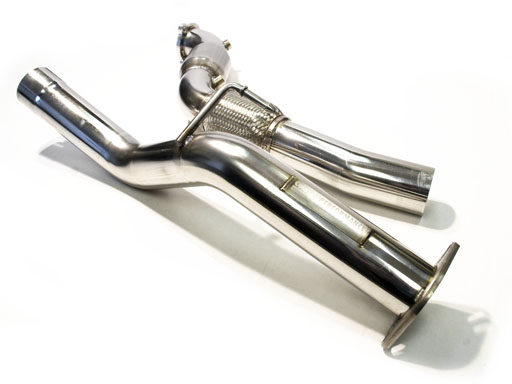 """Genesis Coupe 2.0T CPE 3"""" SS Downpipe( NO CATALYIC CONVERTER  RACE VERSION)"""