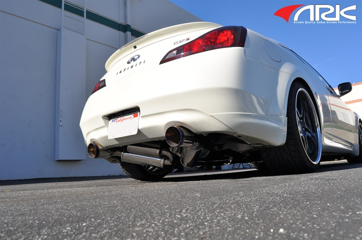 2008+ Infiniti G37 ARK GRIP True Dual Exhaust System(EXCEPT AWD) BURNT  TIPS!!