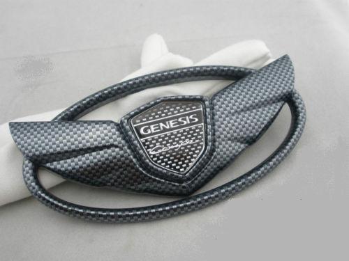 Genesis Coupe Wing badge emblems Grille+Trunk ..CARBON FIBER SET