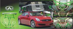 2003-2007 INFINITI G35 /G37 /350Z 7 PIECE RACE UNDERBRACE KIT (UNIQ PERFORMANCE)