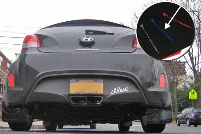 2012+Veloster Turbo and NON-Turbo Rally Armor Mud Flaps