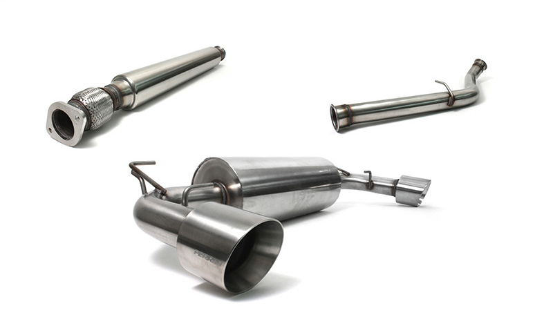 2013+Scion FR-S/BRZ  Perrin Exhaust Brushed - Resonated