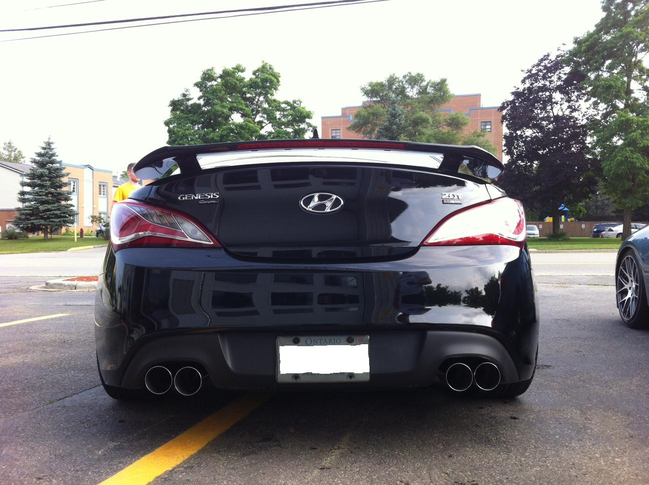 2010-2012 Hyundai Genesis 2T DC Sports Stainless Steel Exhaust System DTS6601