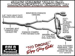 2010+ Turbo Solo Performance Mach X-GEN-TURBO Catback Exhaust Kit for Genesis TURBO