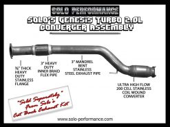 2010-2012 Solo Performance Genesis TURBO-GEN-CAT Ultra High Flow Converter