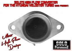 SOLO Performance Ultra High Flow Converter for 2012+ Veloster Turbo 3 INCH Downpipe