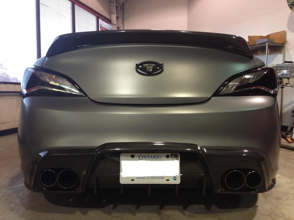2010 2016 Hyundai Genesis Coupe Vis Vip Carbon Fiber Rear Lip