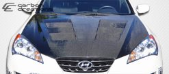 2010-2012 Hyundai Genesis 2DR Carbon Creations Circuit Hood - 1 Piece
