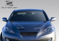 2010-2012 Hyundai Genesis 2DR Duraflex RS-1 Hood - 1 Piece FIBERGLASS