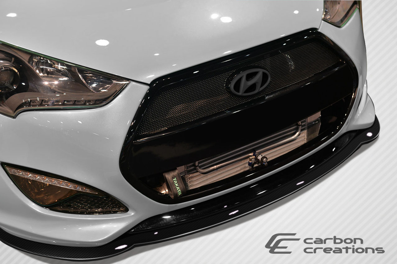 2012-2016 Hyundai Veloster Turbo Carbon Creations GT Racing Front Splitter - 1 Piece