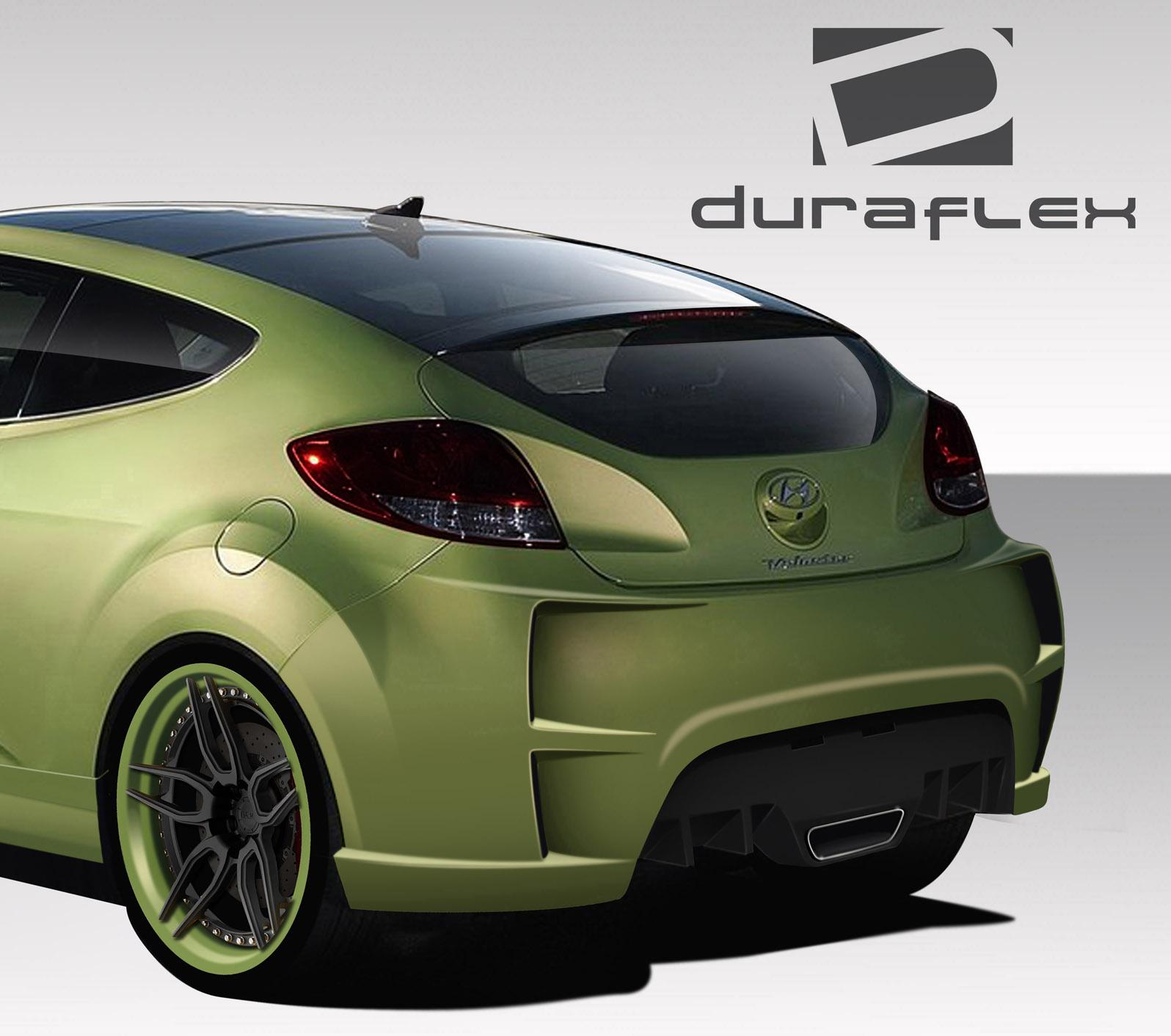 2012-2016 Hyundai Veloster Duraflex VG-R Rear Bumper Cover - 1 Piece