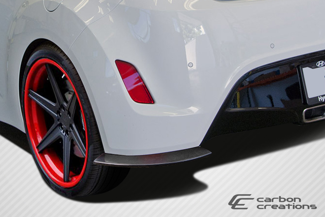 2012-2016 Hyundai Veloster Carbon Creations GT Racing Rear Splitters - 2 Piece