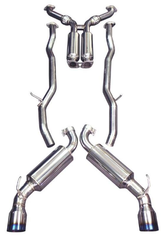 "Injen 2013-2014 Ford Focus ST 2.0L (t) 3.00"" Cat-Back Stainless Steel Exhaust System w/Titanium Tip"
