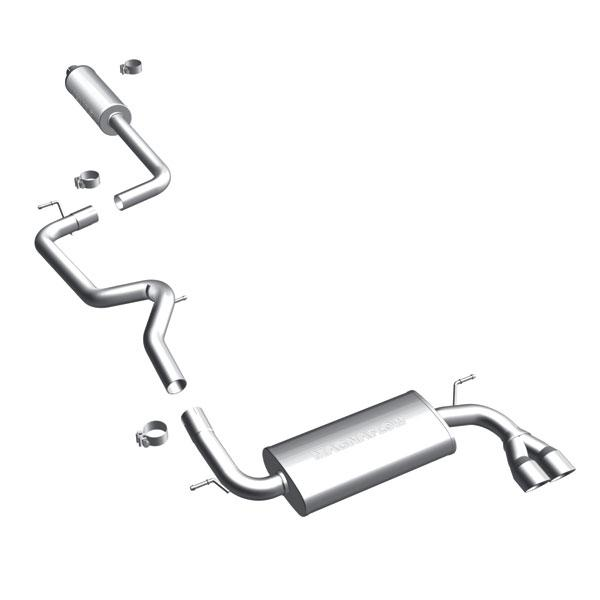MagnaFlow 12 Ford Focus L4 2.0L HB Single Straight P/S Rear Exit Stainless Cat Back Perf Exhaust