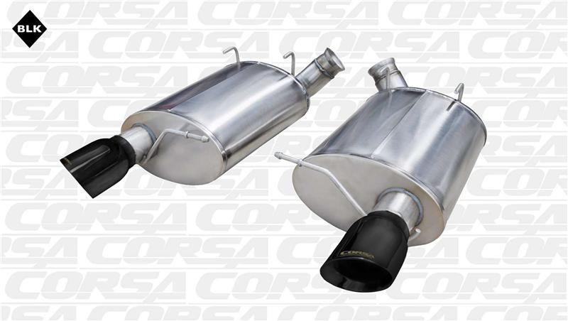 Corsa 11-12 Ford Mustang Shelby GT500 5.4L V8 Black Sport Axle-Back Exhaust