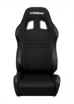 Corbeau A4 Reclinable Seat in Black Cloth