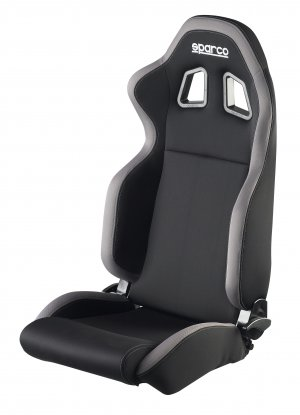 Sparco R100 Reclinbale Racing Seat Black Gray Cloth