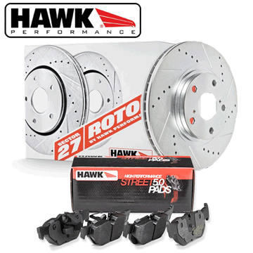 Hawk HPS Front Brake Pads 2010-2015 Fits Hyundai Genesis Coupe with Brembo