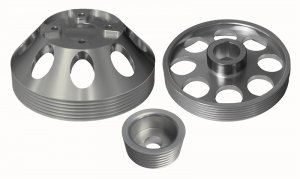 Torque Solution Lightweight Pulley Set Genesis Coupe 3.8 2010 - 2015