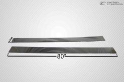 Carbon Creations Carbon Fiber Universal Side Splitters Genesis Coupe 2010 - 2015   