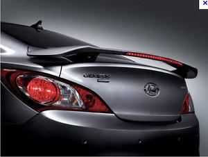 Delightful 2010 2016 Hyundai Genesis Coupe Mobis Genuine LED Rear Spoiler Unpainted  ONLY!